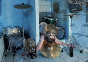 Tired drummer rest